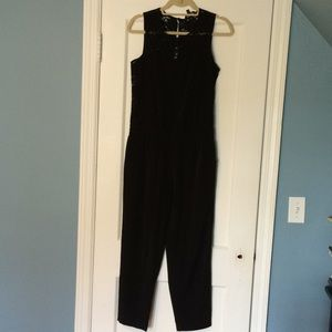 Express jumpsuit with lace back